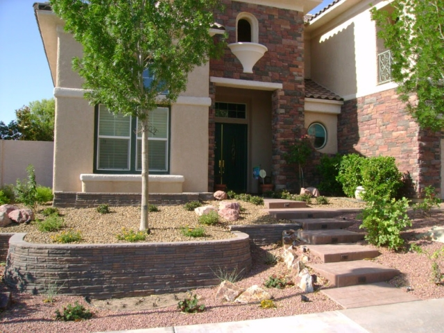 xeriscaped front hard in Las Vegas