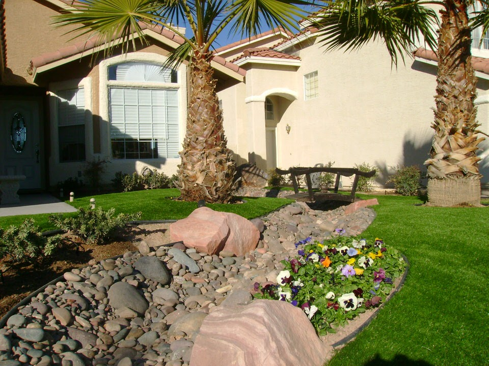 Front Yard Landscape Design - Landscaping Services In Las Vegas Wet-Tec