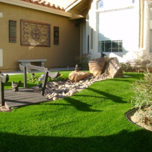 Landscape Design with artificial grass